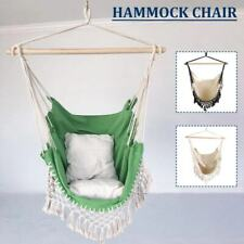 New ListingHanging Rattan Swing Patio Garden Chair Weave Cushion Outdoor Pad Bedroom Cotton