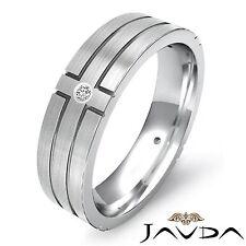 Round 4 Bezel Diamond Mens Man Eternity Wedding Solid Band 14k White Gold 0.30Ct