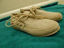 Oliberte tan suede Aduni leather flats display/sample 7M (B) New no box save $!