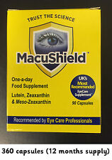 MACUSHIELD EYE HEALTH SOFT GELS 360 CAPS 12 months 1 YEAR SUPPLY MacuHealth