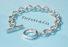 Tiffany & Co Argento Sterling Charm 1837 Toggle Bracciale 8 in (ca. 20.32 cm)