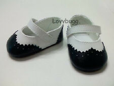 """Black & White Victorian Dress Shoes for 18"""" American Girl Doll Best Selection!"""