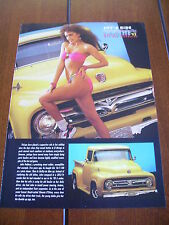 1956 FORD F-100 PICK UP HOT GIRL PIN-UP ***ORIGINAL 1992 ARTICLE***