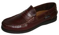 Seafarer Helmsman Sailing Leather Loafer Slip On Boat Deck Shoes Sizes 7-12