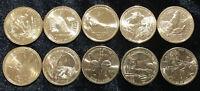 USA SACAGAWEA NATIVE AMERICAN 1 DOLLAR SET 10 COINS 2009-2018 UNC