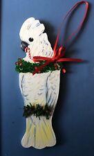 New listing Umbrella Cockatoo Christmas Holiday Tree Ornament