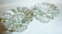 Crystal Candle Votive Holders clear Set Of Two Forever