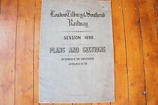 1898 London Tilbury & Southend Railway Map Plan x3 East Ham Essex
