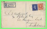 G.B. 1938 KGV/KGVI 1938 2d & 2½d on cover (Flight???) to Penang, Malaysia