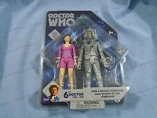 DOCTOR WHO CLASSIC 5 INCH FIGURE 2 PACK 6TH DOCTOR -- PERI + ROGUE CYBERMAN