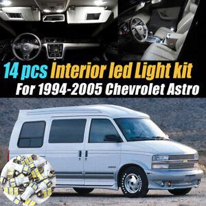 14Pc Super White Car Interior LED Light Bulb Kit for 1994-2005 Chevrolet Astro