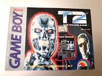 T2 The Arcade Game Game Boy Nintendo Instruction Booklet Book Manual Only - Good