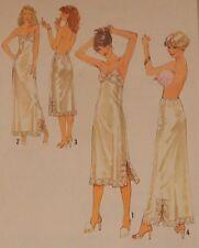 "8862 Simplicity Lingerie Pattern Full Half Slip Size 12 Bust 34"" Vintage Pattern"
