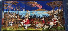 Vintage Antique Retro Velvet Plush Carpet Rug Runner Tapestry Italian Scenery