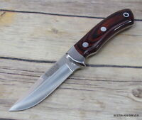 JOKER KNIVES MADE IN SPAIN FIXED BLADE SMALL HUNTING KNIFE WITH LEATHER SHEATH