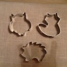 Woodland Animals Cookie Cutters, Set of 3