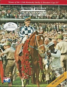 1998 - Churchill Downs program with SECRETARIAT on the cover in MINT Condition