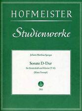 SPERGER, Sonate en ré majeur pour Contrebasse et Piano / Sonate D-Dur für Kontra