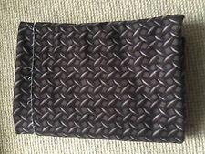 3m x 150cm brown cream & navy geometric pattern stretch heavy weight fabric sew