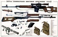 "*HUGE color POSTER 36x24"" Soviet Russian PSO-1 Sniper Scope SVD Dragunov Rifle!"