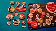 Lot of (52) Vintage Presidential Campaign Political Pinbacks - All different
