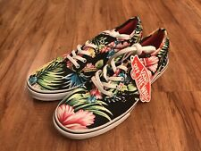 Vans Hawaiian Floral Flowers Hibiscus Size 7 Women's Sneakers Shoes Lace Up NEW