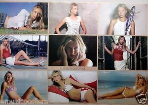 """MARIA SHARAPOVA """"COLLAGE OF SEXY SHOTS""""POSTER FROM ASIA-Russian Tennis Superstar"""