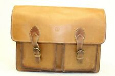 Scully Large Leather Monogrammed Vintage Leather Briefcase Attache Business Bag