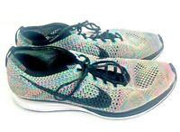 Nike Flyknit Racer 2.0 Athletic Running Shoe Men's Size 10.5 Multicolor Rainbow