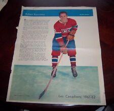 Robert Rousseau La Patrie Du Dimanche photo Montreal Canadians 1961-62