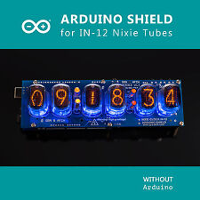 Nixie Tubes Clock IN-12 Arduino Shield NCS312, IR Remote, GPS, Temp.[WITH TUBES]