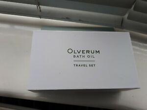 New Sealed Olverum Bath Oil Travel Set 3 x 15ml In Box Vegan