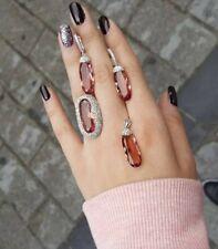 925 Sterling Silver Handmade Jewelry Alexandrite Ladie's Set    #5879