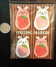 kawaii cartoon Animal WRITING MARKER sticky notepad memo set tabs page markers