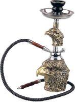 Shisha moderne Wasserpfeife ADLER 36 cm 1 Schlauch mit Zange und Sieb NEU
