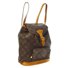 LOUIS VUITTON MONTSOURIS MM BACKPACK BAG MONOGRAM CANVAS M51136 eq A54219