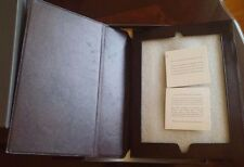 Restoration Hardware Artisan Leather iPad Cover Case Chocolate Brown NEW