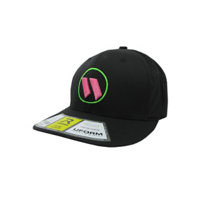Worth Hat by Richardson (PTS30) All Black/Neon Green/Pink