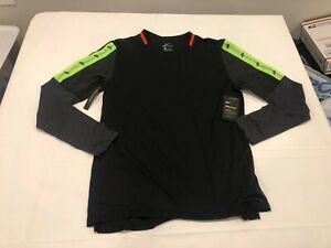 NWT $60.00 Nike Mens Breathe Wild Run LS Running Shirt Black Size MEDIUM