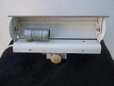 Applique cylindre laiton métal laqué blanc vers 1960 Doria