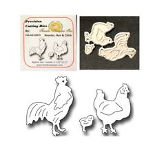 Animal metal dies Rooster Hen Chick Frantic Stamper dies FRA-DIE-09979 Farm