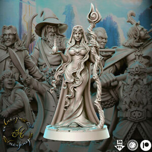 Miriel Female Wiccan Lady Druid Minature for Fantasy RPG Games and DnD