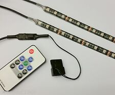 PC CASE RGB FLEXI LED STRIP LIGHT 2x50cm STRIPS - TWICE AS BRIGHT!