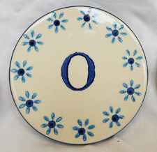 Hand Painted Ceramic Coaster - Initial O - BNWT