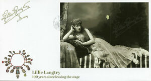 Jersey 2017 FDC Lillie Langtry Actress 1v S/A M/S Cover Celebrities Stamps