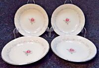 """Fine China of Japan Royal Swirl Berry Fruit Bowls 5 5/8"""" Set of 4 Excellent"""