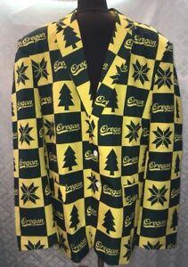 NCAA College Oregon Ducks Mens XXL 50 Jacket Blazer Sport Coat LOUD