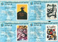 CAMPIONATO MONDIALE di CALCIO ESPANA '82 Set 4 Cartoline
