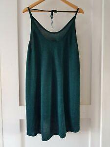 ONE TEASPOON Sz L green knit long tunic tank Mini Dress