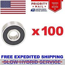 Lot 100pcs 608-2RS Rubber Seal Skate Roller Hockey Bearing Fidget Spinner ABEC 7